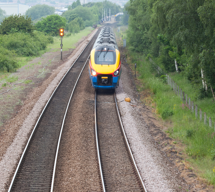Photo Of A High Speed Train In Doncaster, England, UK